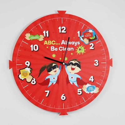 Picture of 'ABC... Always Be Clean' Clock