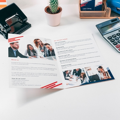 Picture of Slick Template - Folded Leaflet - Single Fold