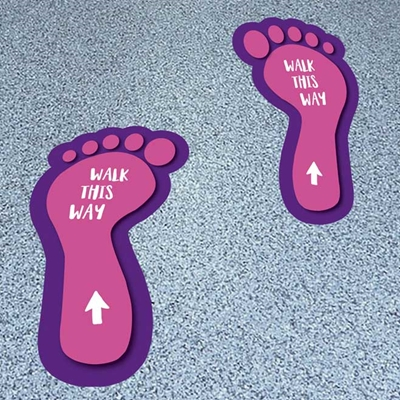 Picture of Walk this Way Feet Footprints
