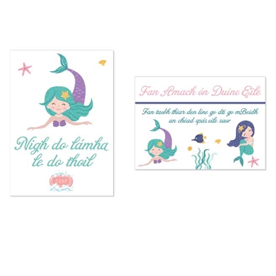 Picture of Keep Kids Safe Signage - Mermaids as Gaeilge