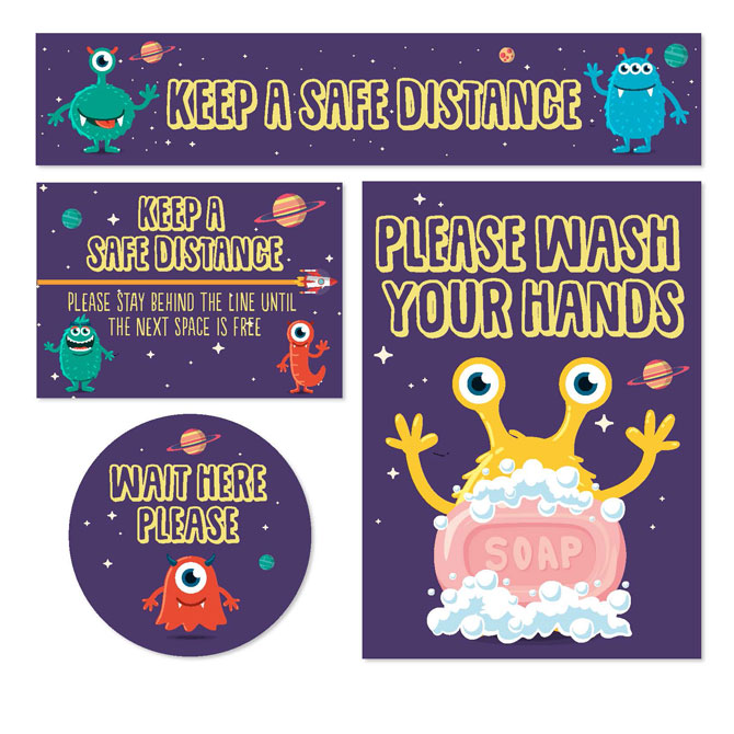 Picture of Keep Kids Safe Signage - Monsters