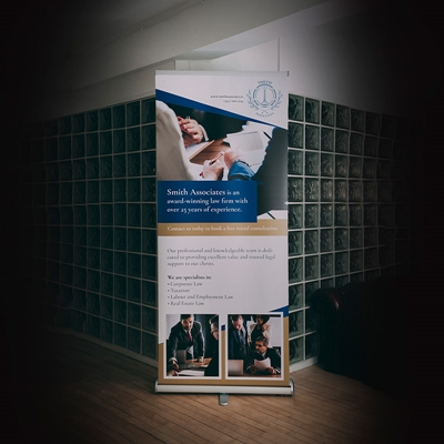 Picture of Sharp Template - Pull Up Banner