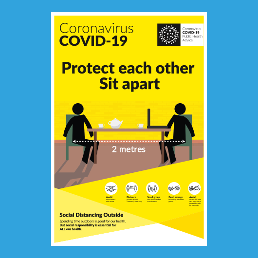 Picture of COVID Info Poster Sit Apart